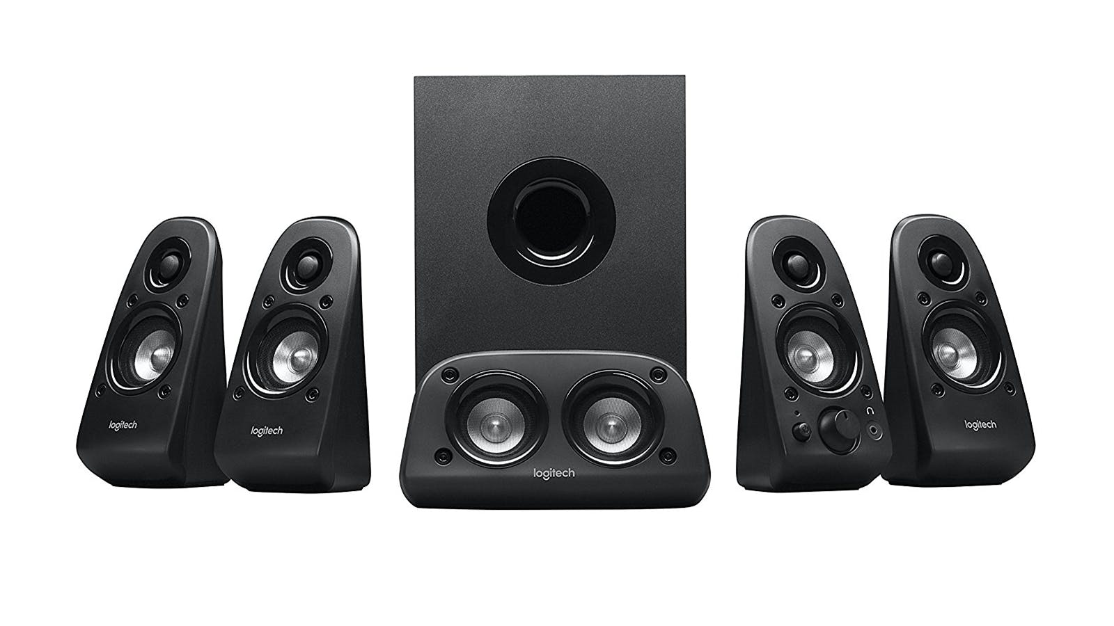 logitech z506 surround sound home theater speaker system. Black Bedroom Furniture Sets. Home Design Ideas