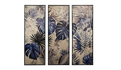 Nicholas Blue Jungle 3 Set Wall Art - 01