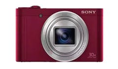 Sony Cyber-Shot W Series WX500 18.2MP Digital Camera with 30x Optical Zoom - Red