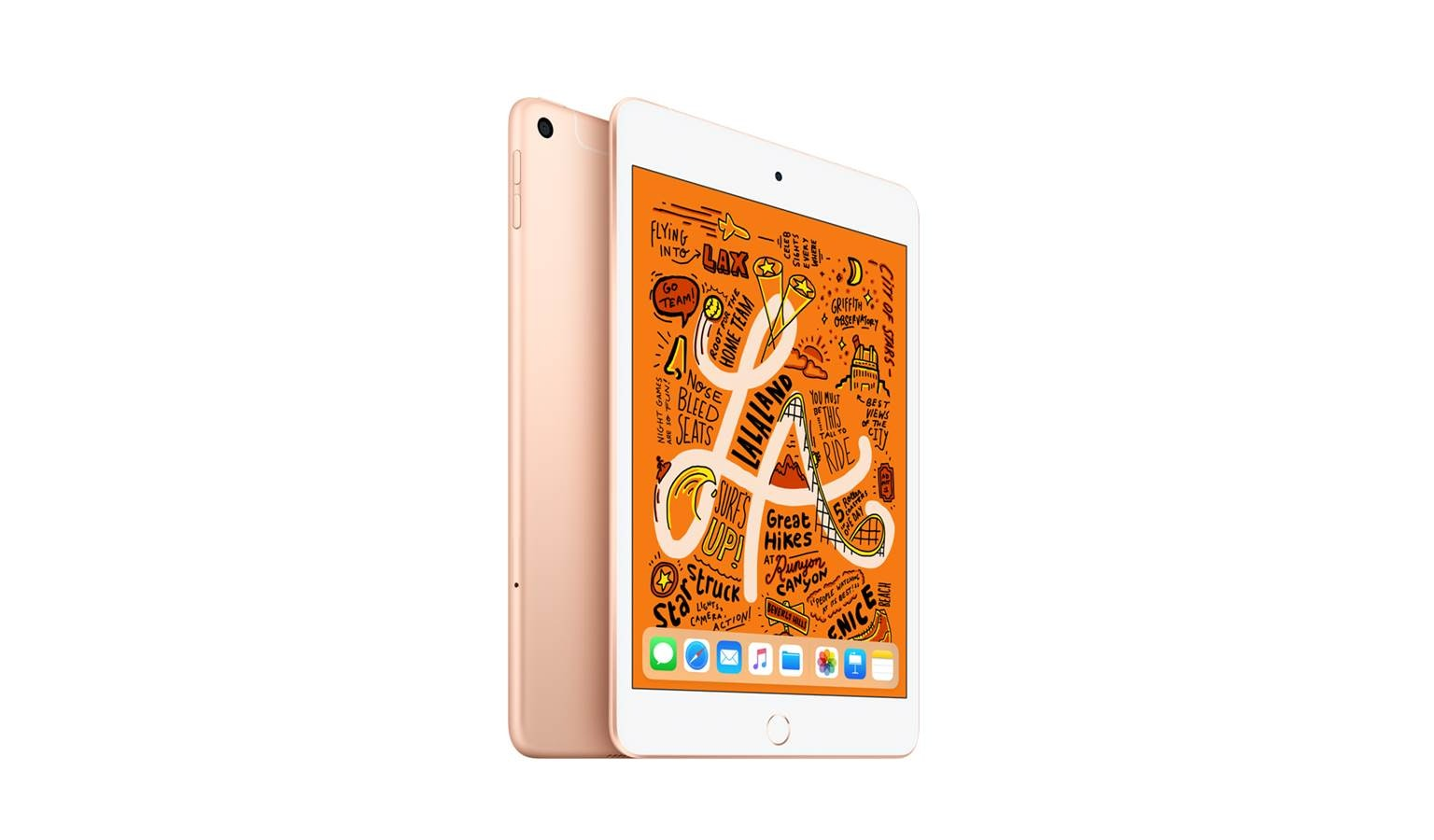 Apple iPad Mini 4G (64GB) - Gold (Front)