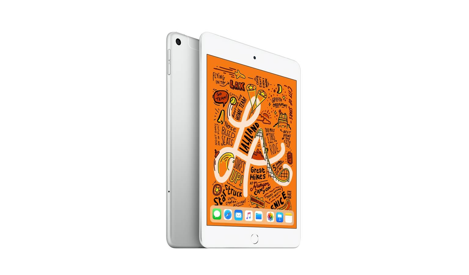 Apple iPad Mini 4G (64GB) - Silver (Front)