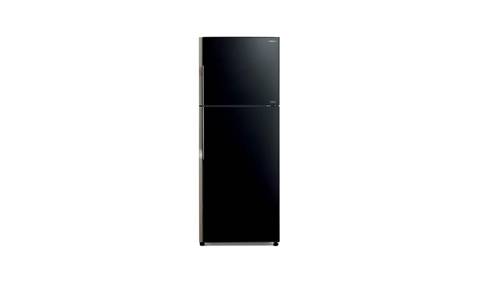 Hitachi 451 L 2-Door Refrigerator - Glass Black