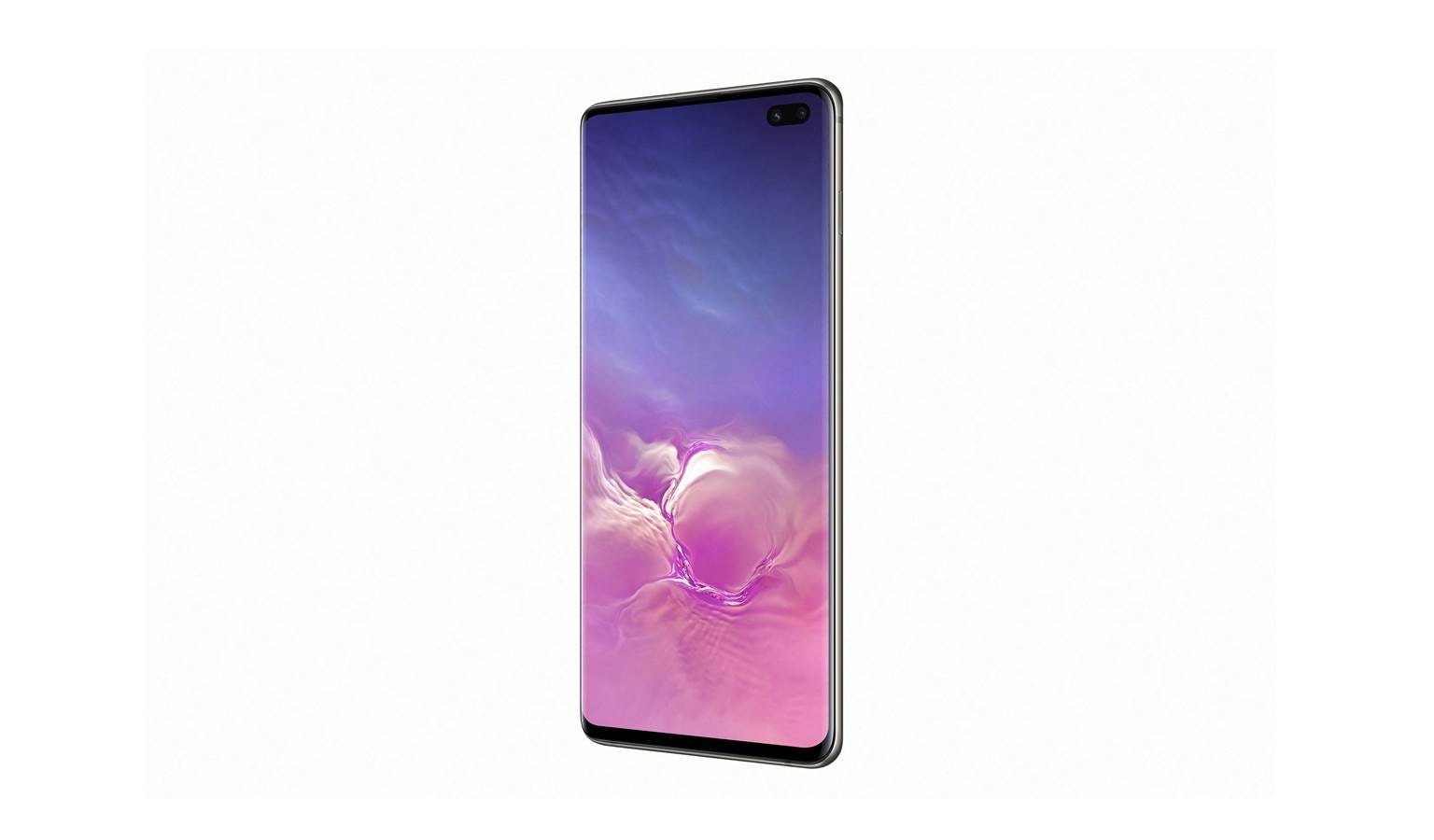 Samsung Galaxy S10+ Smartphone - Ceramic Black (Left)