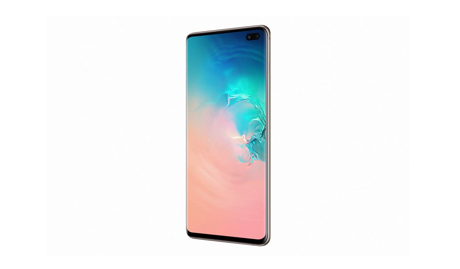 Samsung Galaxy S10+ Smartphone - Ceramic White (Left)