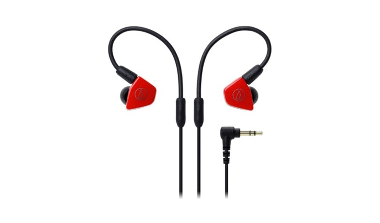 Audio Technica Sonic Fuel In-Ear Headphone with In-line Mic & Control - Red