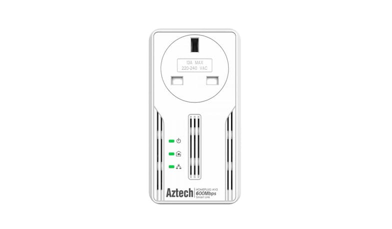 Aztech HL117EP Smart Link HomePlug - White - 01