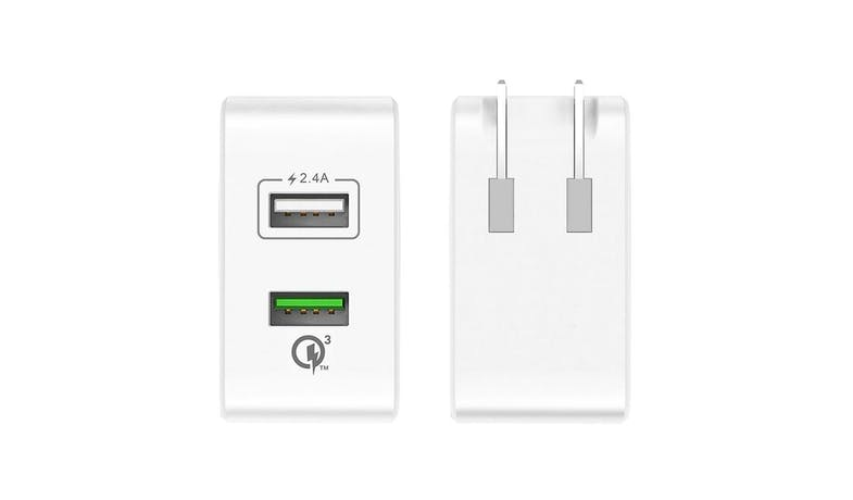 J5 Create JUP20 2-Port USB QC 3.0 Charger - White - 02