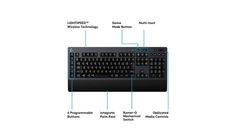 Logitech G613 Wireless Gaming KeyBoard - Black - 02
