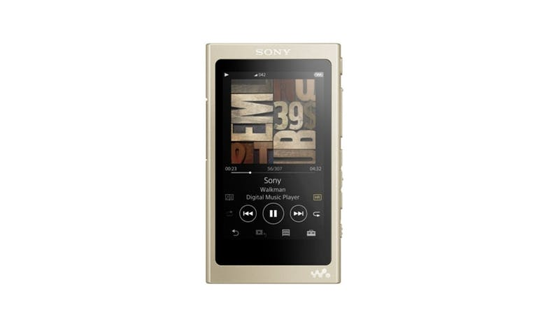 Sony NW-A45/N High-Res Touchscreen 16GB MP3 Walkman Player - Gold - 01
