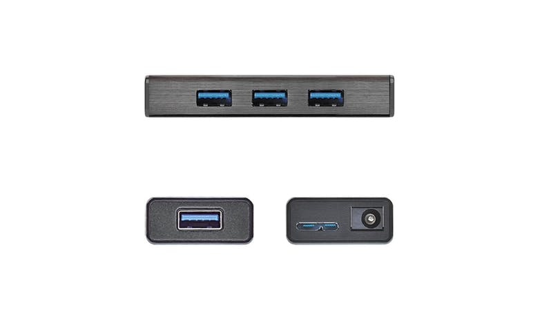 J5 Create JUH340 USB 3.0 4-Port Hub with AC Power Adapter - Black - 02