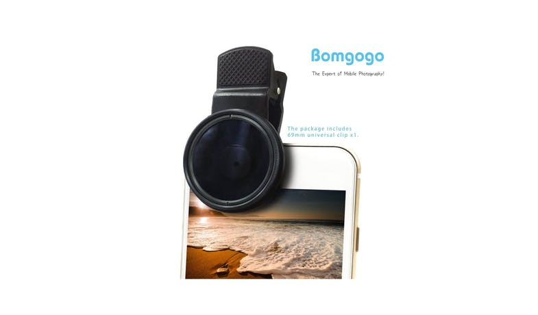 Bomgogo 37mm ND8 Filter Lens - Black