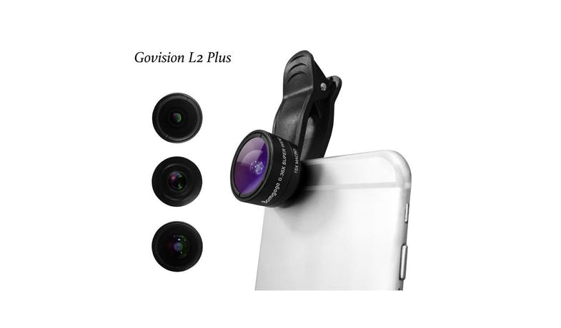 Bomgogo Govision L2 Macro 3 in 1 Phone Camera Lens Kit - Black