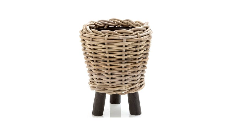Florabelle Cancun Small Pot with Legs - Natural - 01