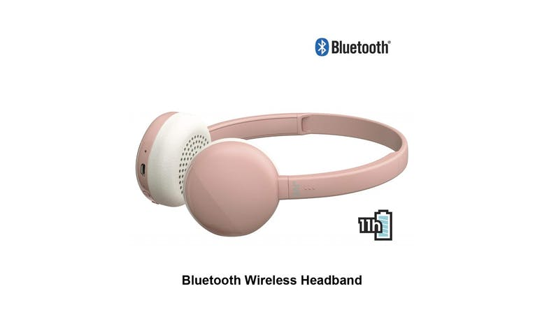 JVC HA-S20BT-P On ear Bluetooth Headphone - Pink 02