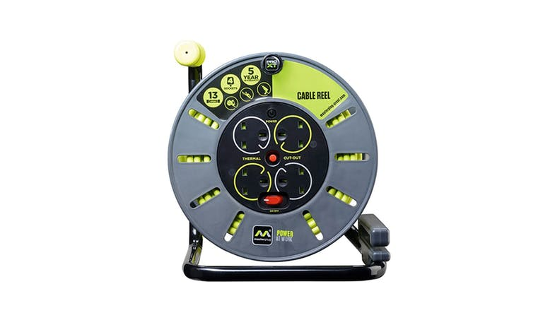 Masterplug 30 m Open Cable Reel - Green