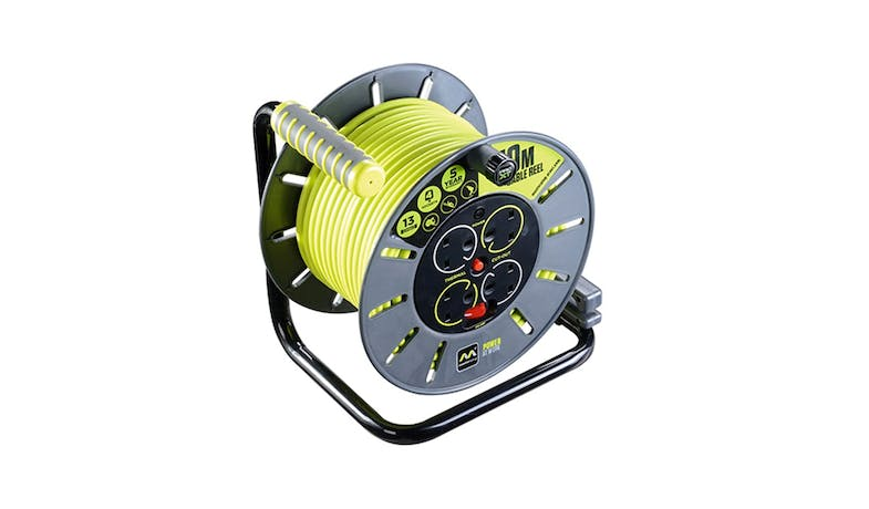 Masterplug 30 m Open Cable Reel - Green01