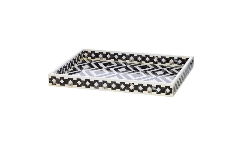 Swing Gift Biggins WWBITS MDF Small Tray - Black/White - 01