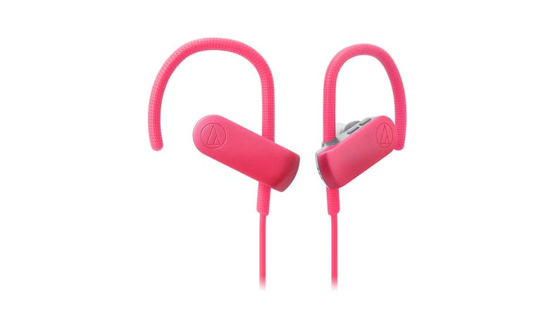 Audio-Technica SonicSport Wireless In-ear Headphone - Pink (Close-Up)