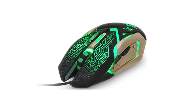 CLiPtec SANEGNOT RGS621 USB 3250dpi Pro-Gaming Mouse -Gold-01
