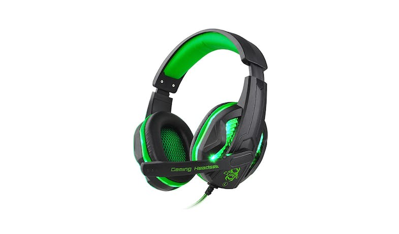 CLiPtec STEGOUS BGH661 S1 LED Stereo Gaming Headset - Green-01