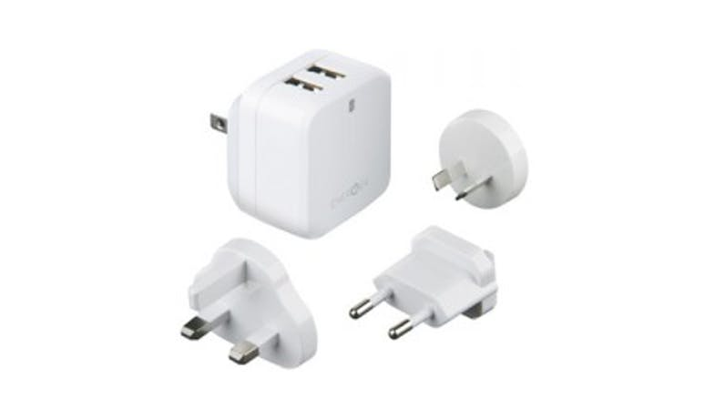 Energea Travelworld 3.4 Charger Adapter - White