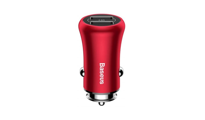 Baseus CCALL-GB09  4.8A Dual-USB Car Charger - Red 01