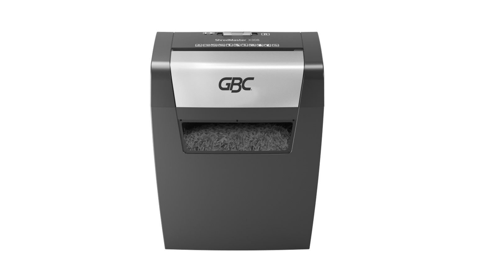 GBC ShredMaster X308 Cross Cut Shredder - Black