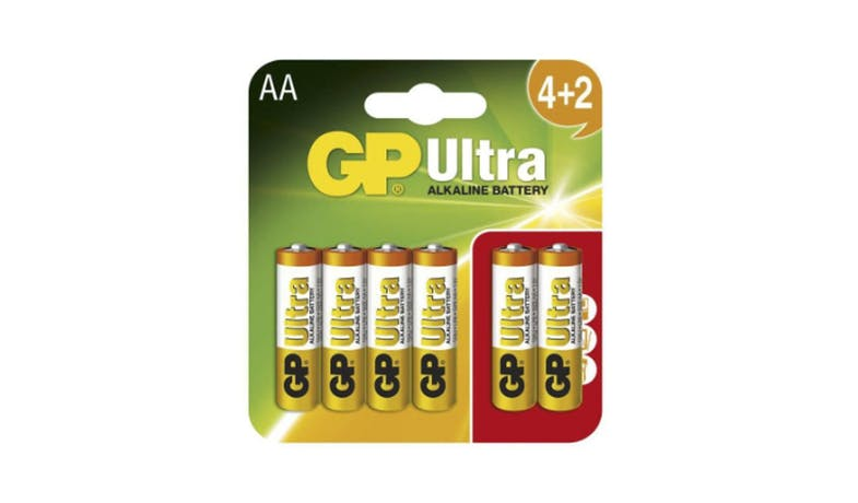 GP Ultra 4+2S AA Alkaline Battery