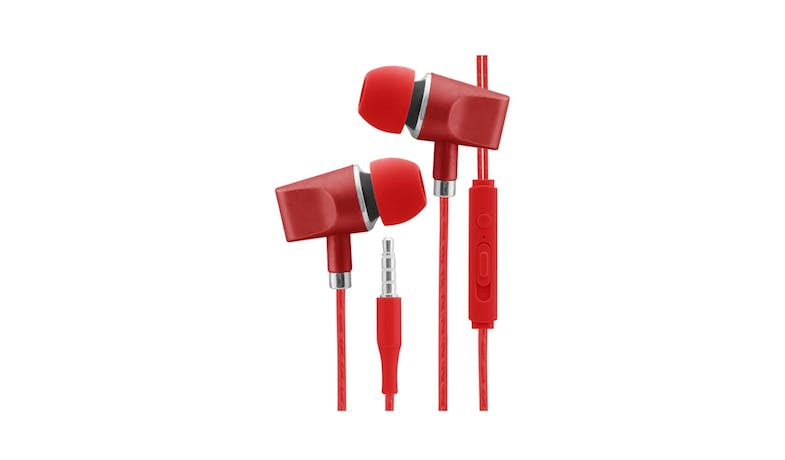 CLiPtec BME636 In-Ear Headphone With Mic - Red 01