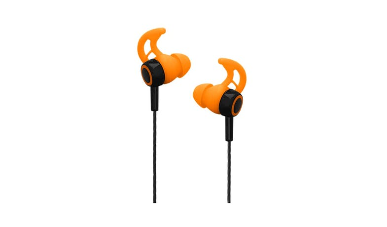 CLiPtec BSE200 XTION-FIT Sports Earphone with Mic- Orange 01