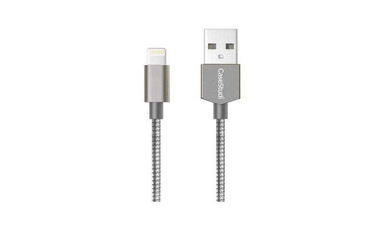 Casestudi 2M Lightning Cable - Armour Silver 01