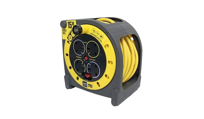Masterplug Pro Xt 15M Cable Reel - yellow