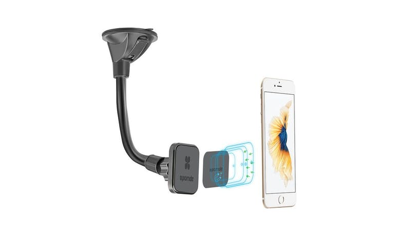 Promate Universal 360° Magnetic Rotatable Car Mount - Black01