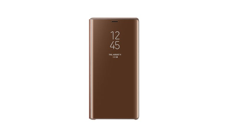 Samsung Galaxy Note9 Clear View Case - Brown-01