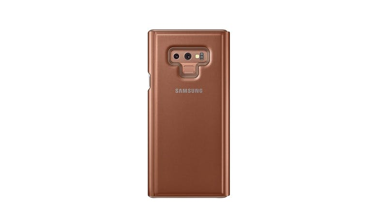 Samsung Galaxy Note9 Clear View Standing Cover - Brown-001