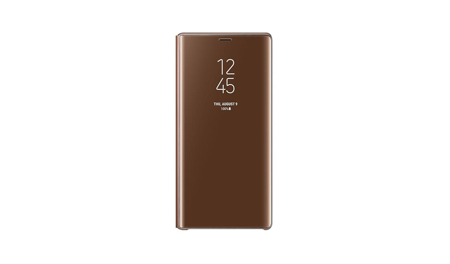 finest selection b4c27 73f2e Samsung Galaxy Note9 Clear View Standing Cover - Brown