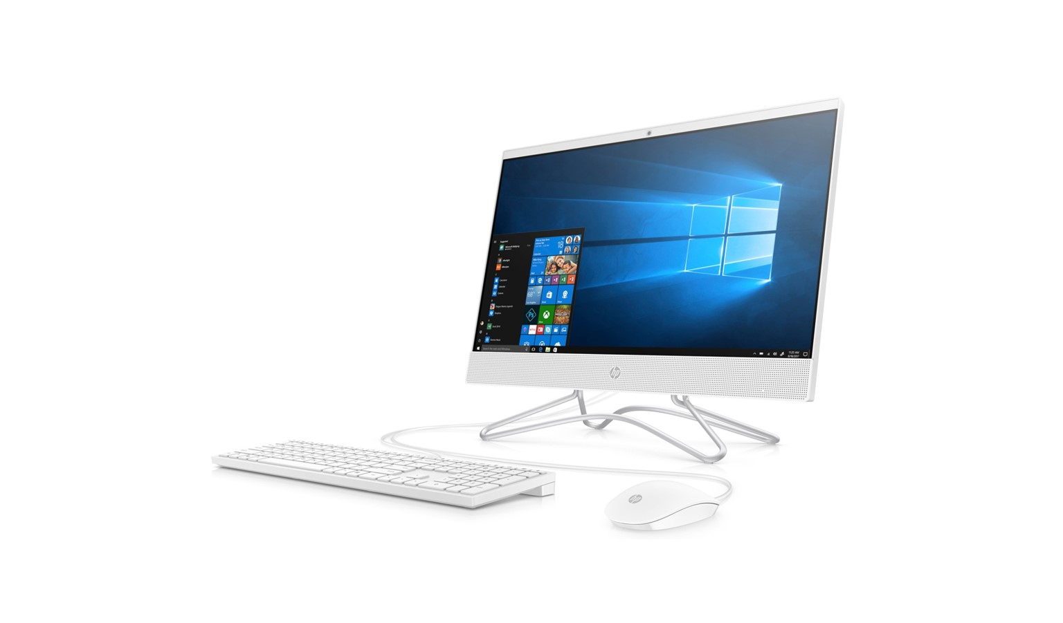 """HP Pavilion 23.8"""" FHD i3 W10 All-in-One Desktop - White"""