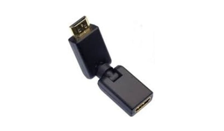 Sarowin ZAA09 360° HDMI Male to Female Adapter - Black-02