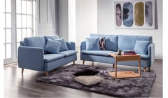IIndiana Fabric 3+2 Seater Sofa - Beige