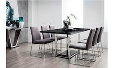Jazz Marble Dining Table - Black (Main)