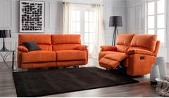 Ruben 3 Seater + 2 Seater Fabric Recliners