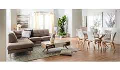 Torri 2 Seater+LHF Fabric Sofa