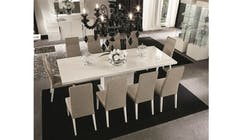 Canova Extendable Dining Table - White High Gloss
