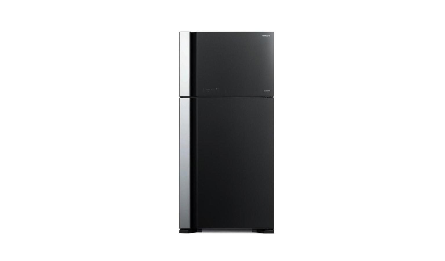 Hitachi R-VG710P7M-1 GGR 601L 2 Door Fridge - Glass Gray
