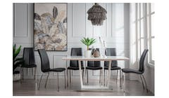 Malibu 6+1 Pieces Marble Dining Set