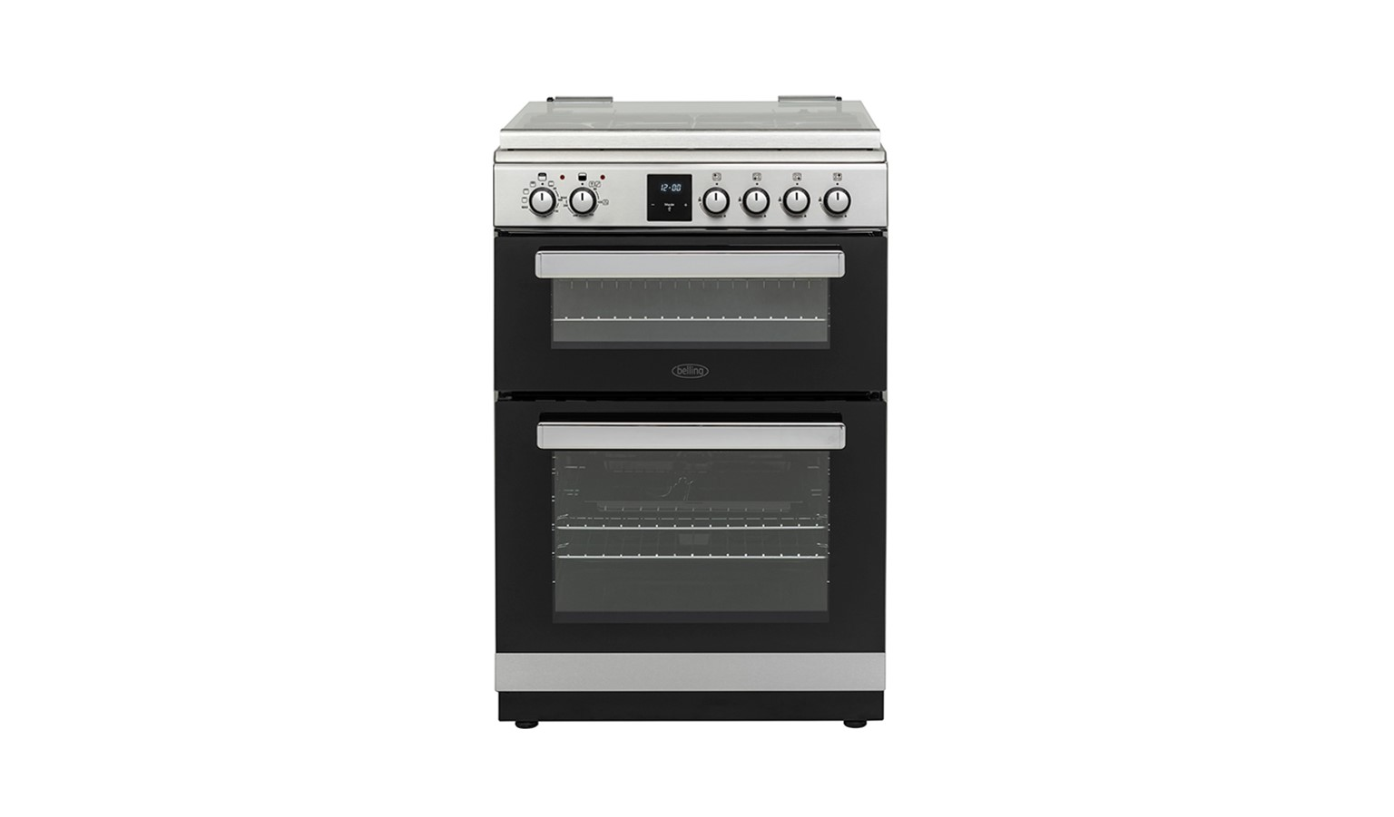 Belling FSDF608DC 60cm Dual Fuel Cooker - Stainless Steel/Black
