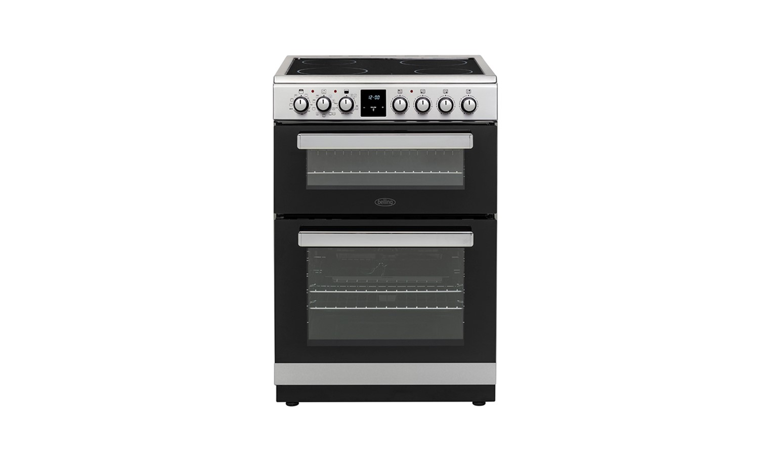 Belling FSE608MFC Electric Cooker with Ceramic Hob - Stainless Steel