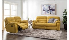 Candice Fabric 2 Seater Manual Recliner