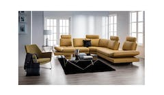 Celest Leather 4 Seater (Arm) + Corner Sofa