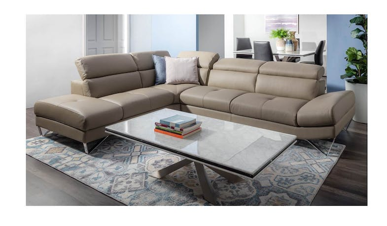Cuborosso Miro Leather 3 Seater + LHF With Chaise